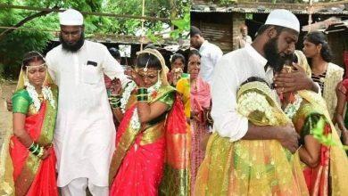 Photo of അനാഥരായ ഹിന്ദു സഹോദരിമാരെ ദത്തെടുത്തു, വിവാഹപ്രായമായപ്പോൾ ഹിന്ദു ആചാരപ്രകാരം വിവാഹം നടത്തി മുസ്ലിം യുവാവ്